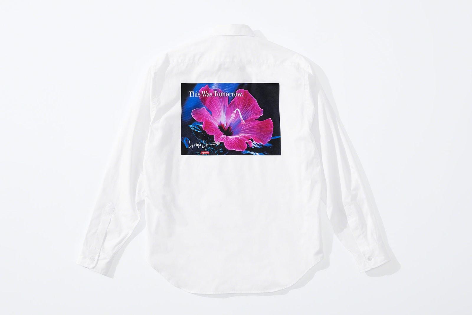 supreme yohji yamamoto collaboration lookbook puffers suits jackets knit sweaters hoodies release info