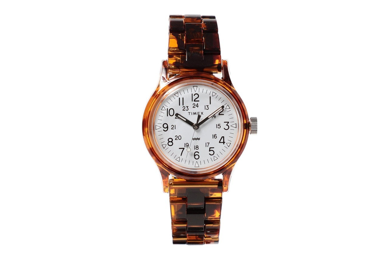 beams timex watches collaboration tortoise shell camper classics digital accessories