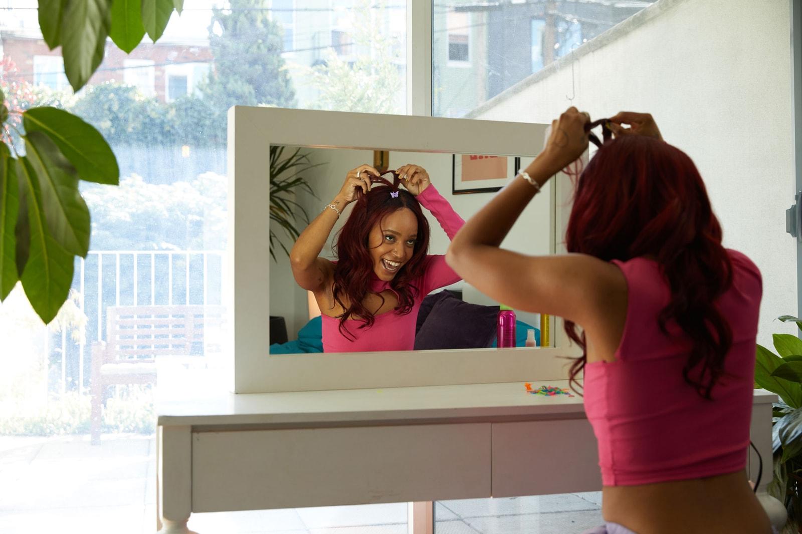 female dj duo swapmeet bed head hair tutorial video