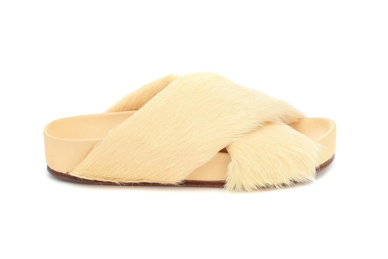 Shearling Slides Furry Sandals