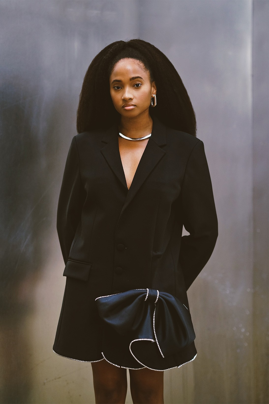candace marie stewart social media strategist black in corporate initiative black blazer necklace earrings