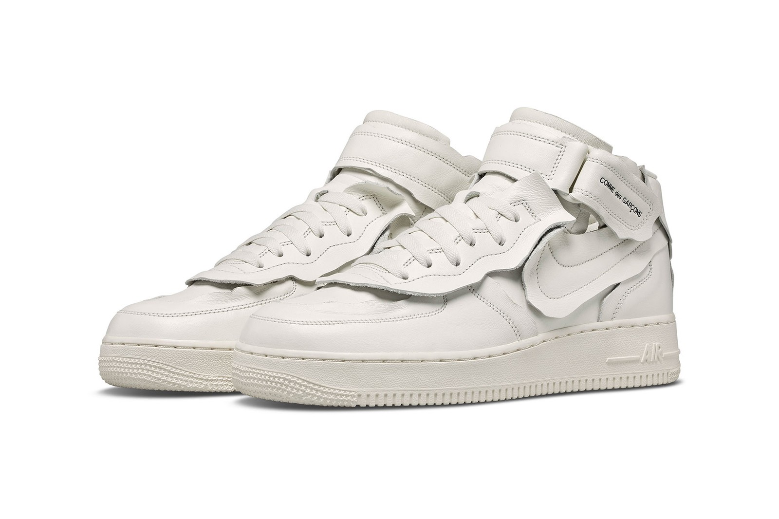comme des garcons nike air force 1 mid cdg af1 white black sneakers price release