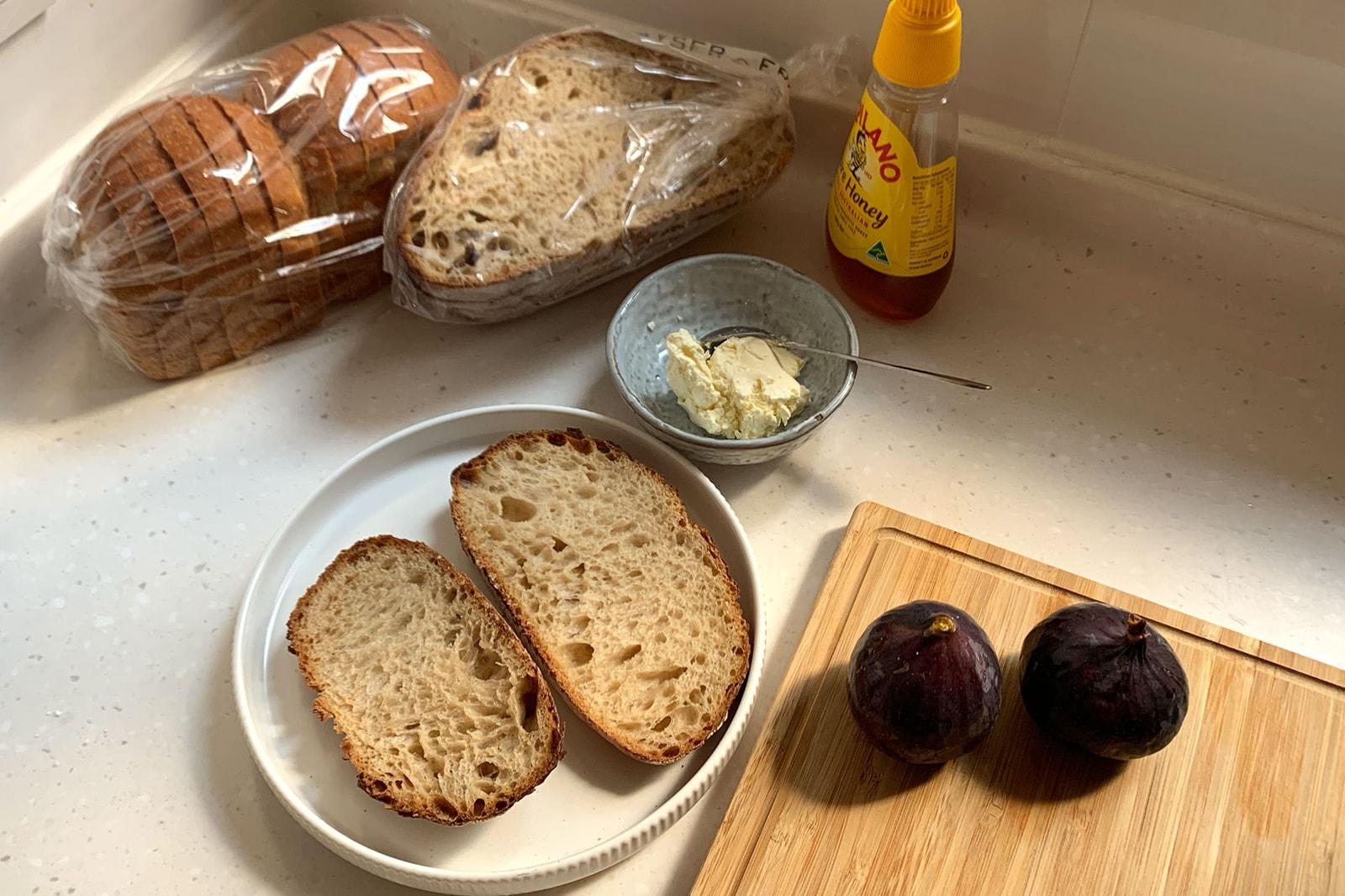 fig cream cheese honey sourdough toast recipes bread fall fruit food breakfast brunch