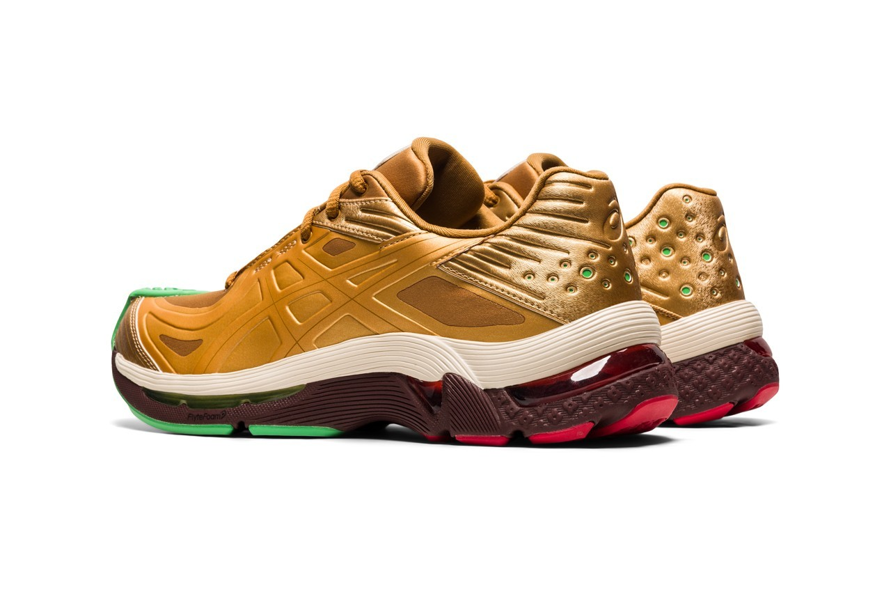 kiko kostadinov asics gel teserakt womens sneakers collaboration gunmetal gold release info