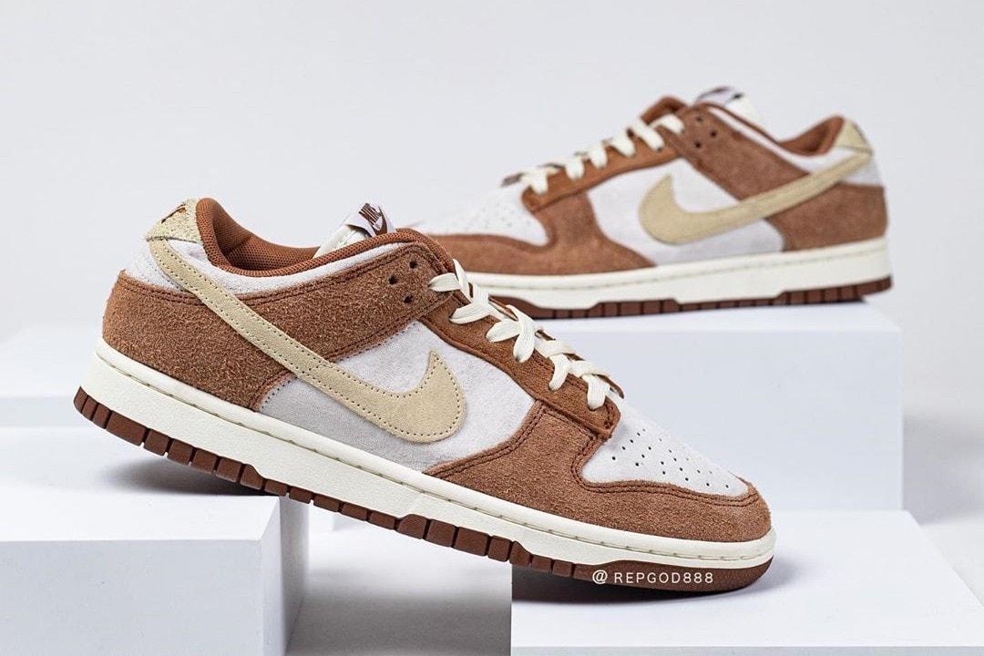 nike dunk low sneakers brown white colorway sneaker head footwear shoes