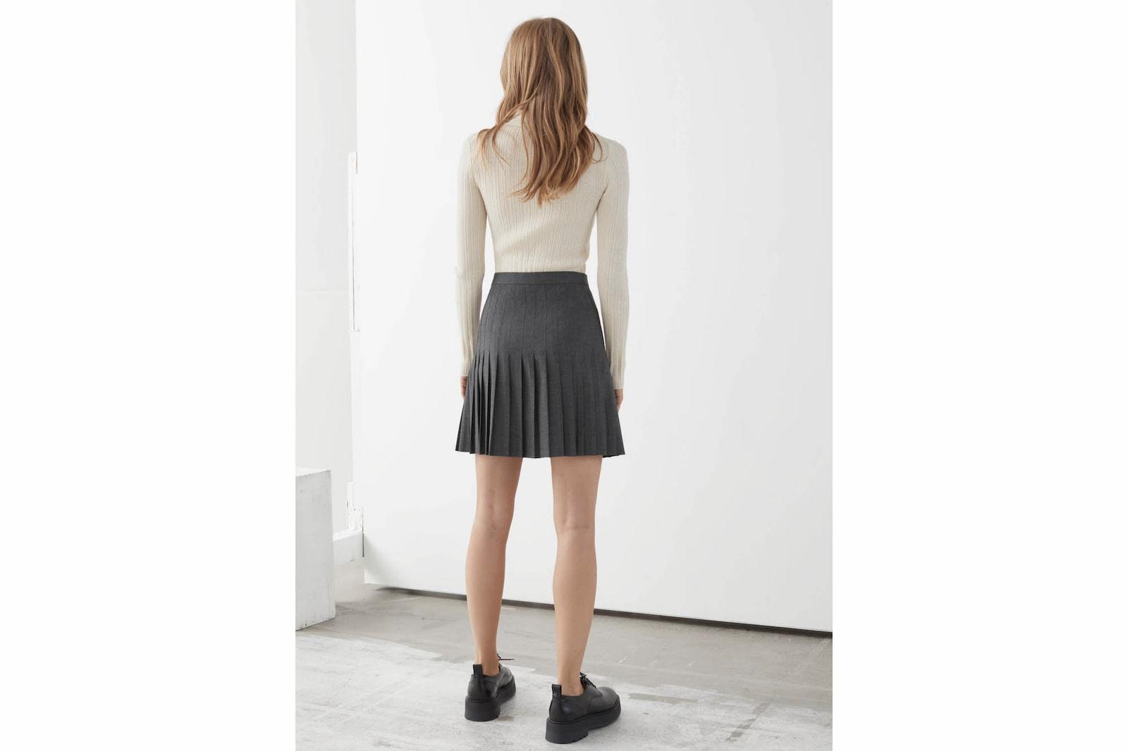 Pleated Skirt Trend Best Fall/Winter Pieces Valentino Prada Sacai MM6 Maison Margiela ARKET
