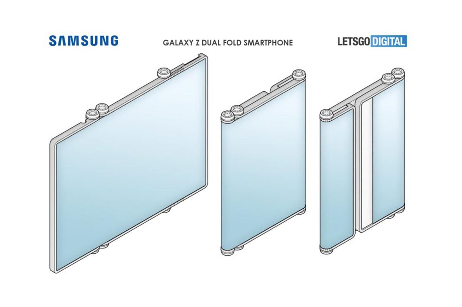 samsung galaxy z dual fold 5g tablet smartphone phone foldable screen tech