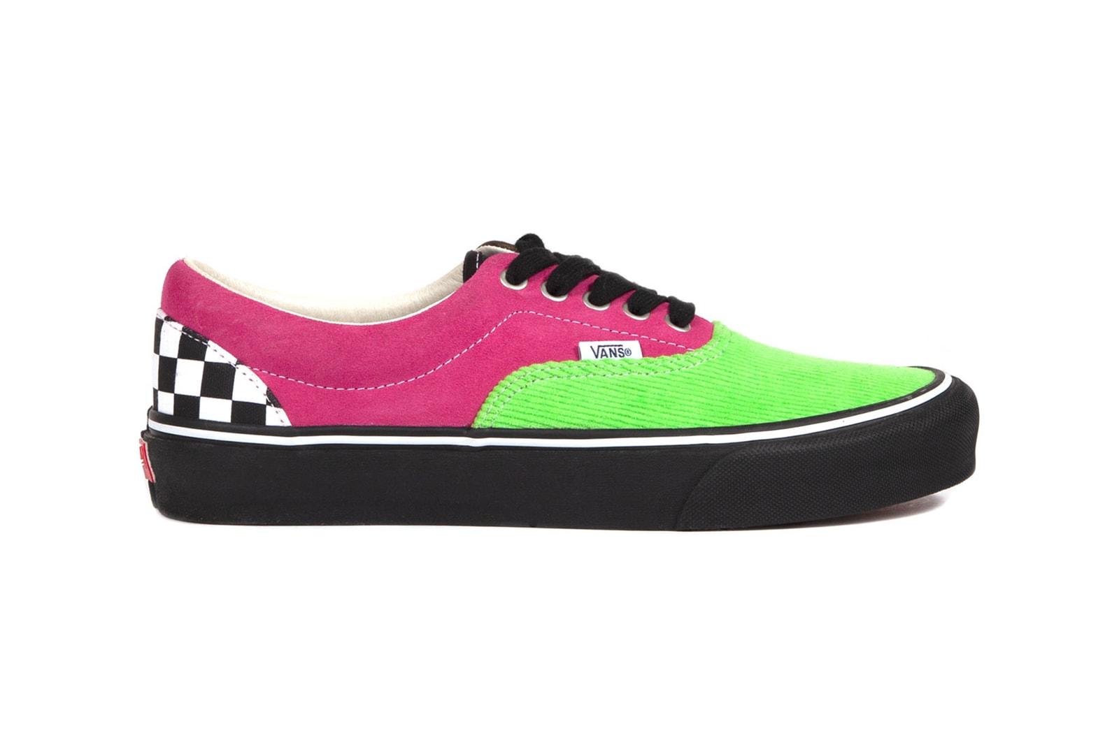 noah vans authentic og era lx collaboration suede corduroy fall winter sneakers release