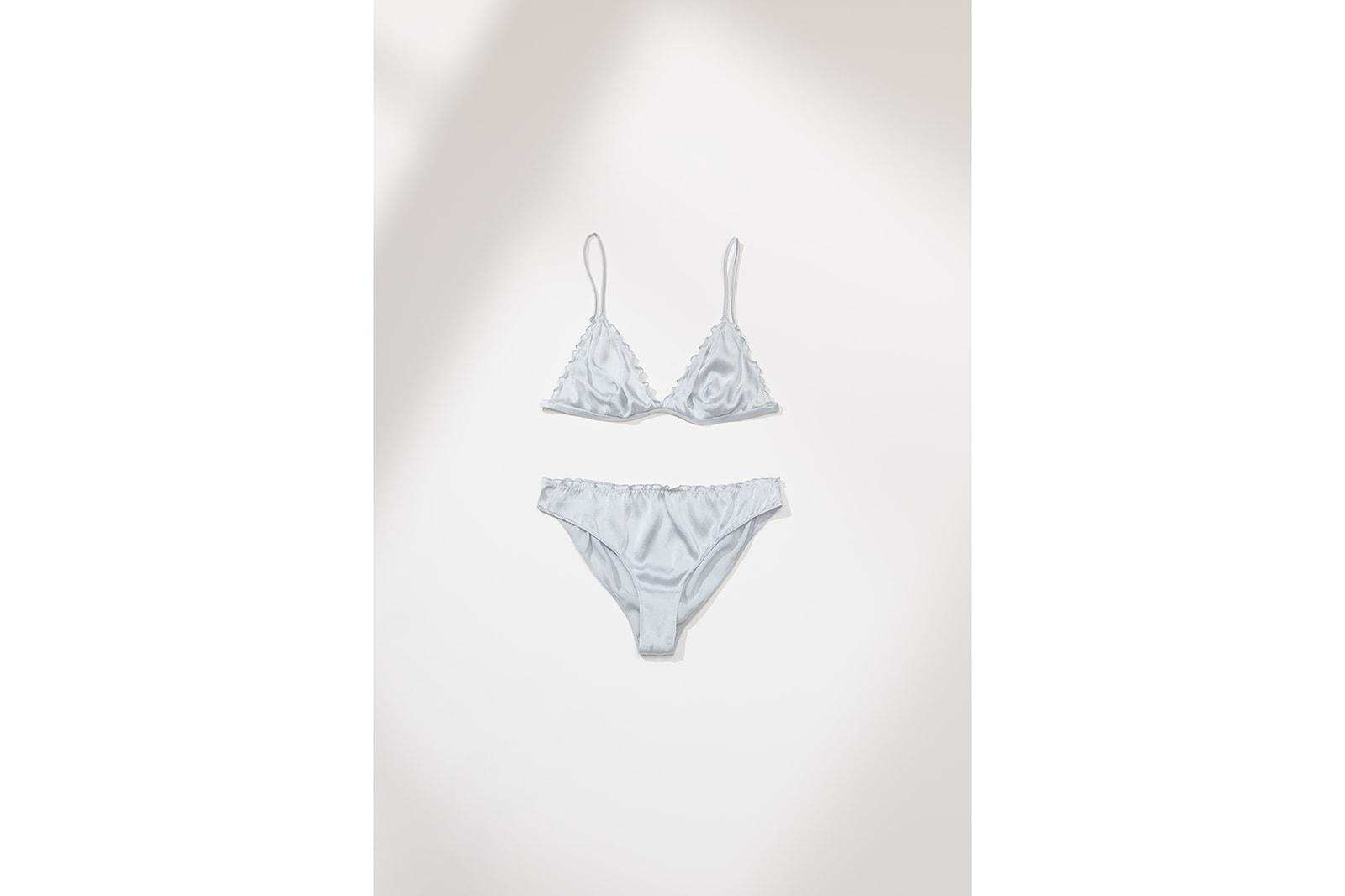 Zara Lingerie Collection Campaign Bra White