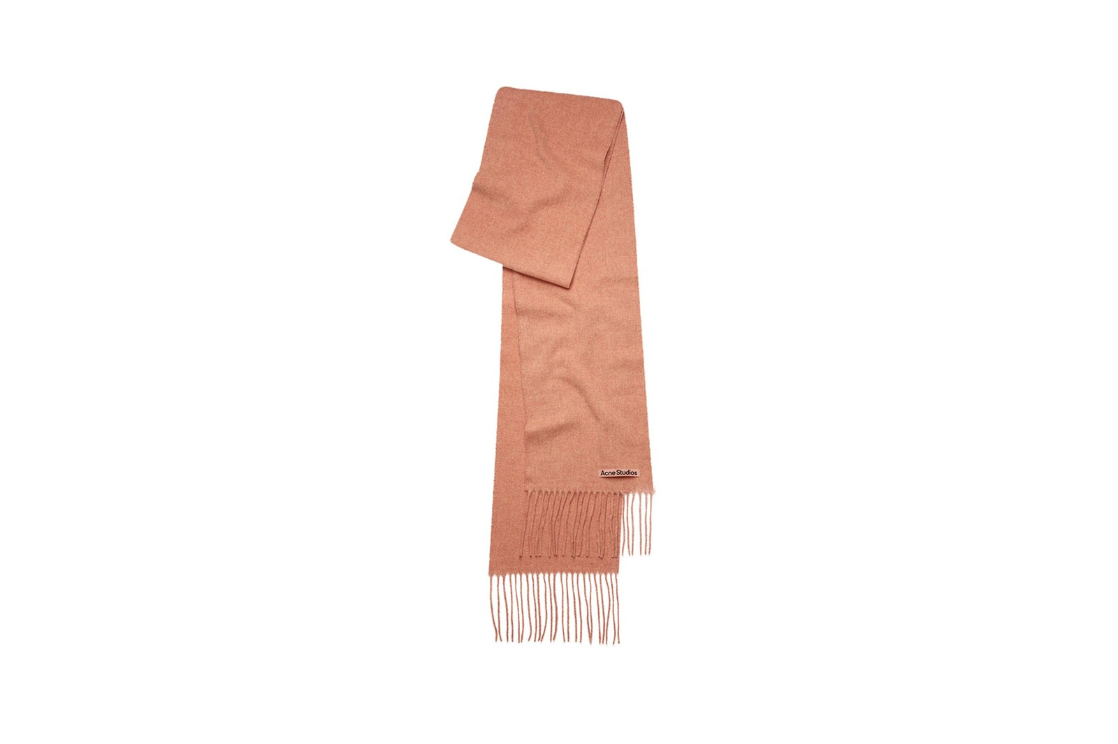 acne studios scarf collection fall winter accessories denim puffer jacket blue pink green orange