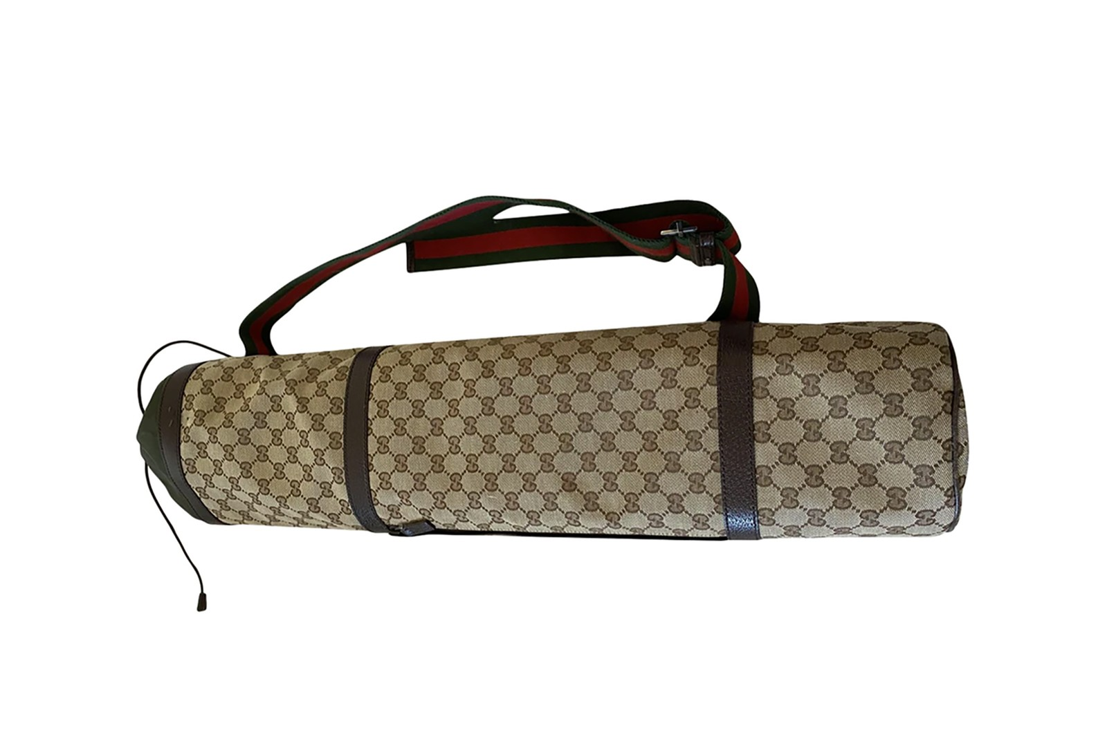 louis vuitton yoga mat  monogram leather strap luggage tag designer brand workout fitness exercise