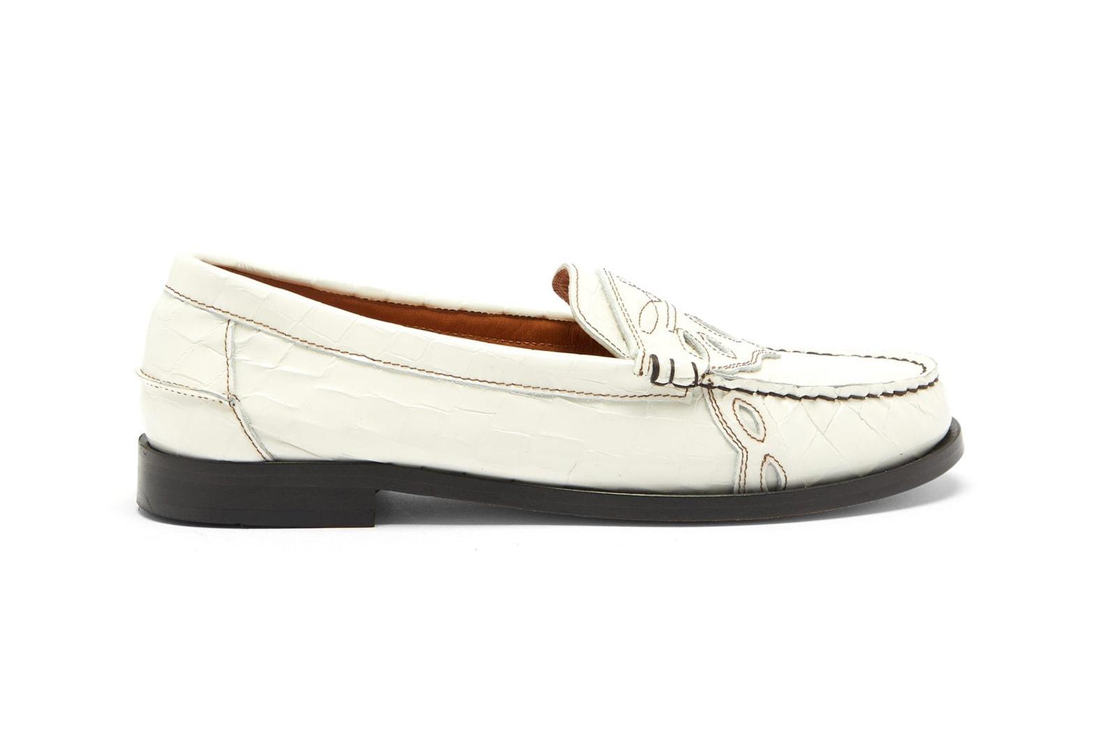 Prada Logo Loafers Black Leather Designer Shoes Ankle Bracelet