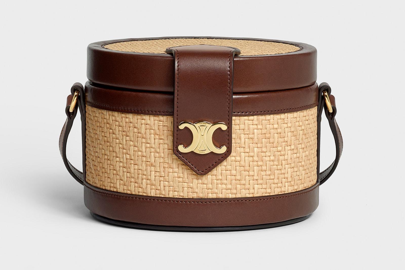 Lisa BLACKPINK CELINE Tambour Bag Purse Brown