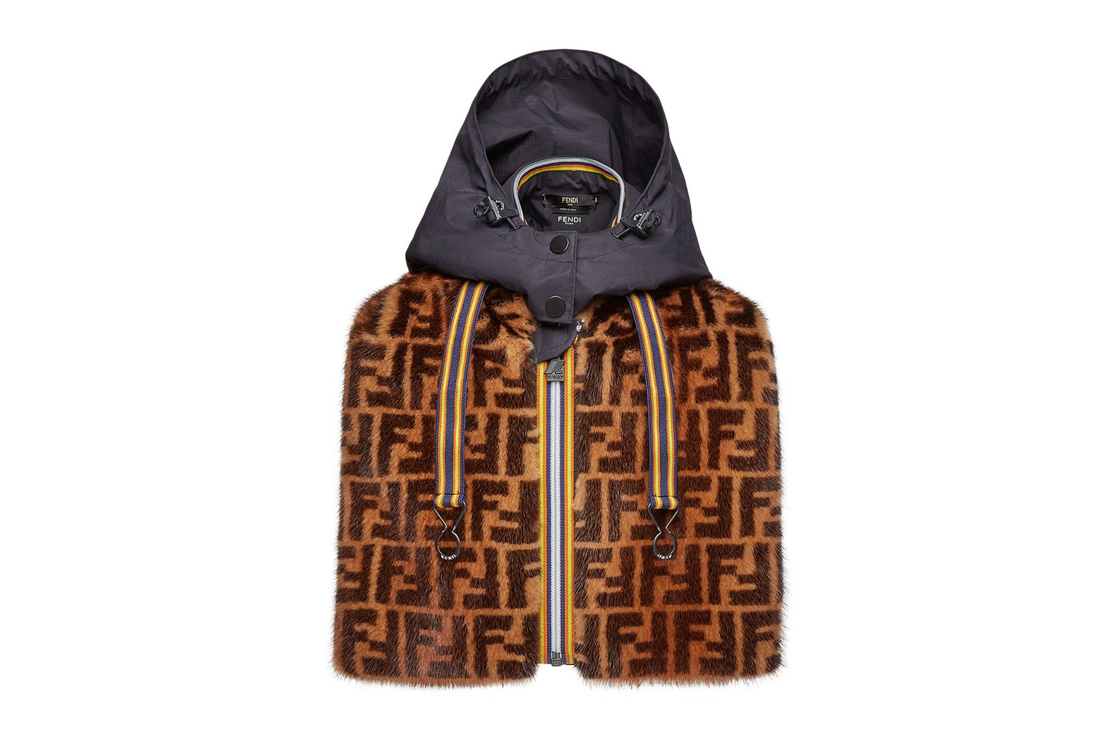 fendi k-way collaboration ff logo reversible jackets windbreakers outerwear release