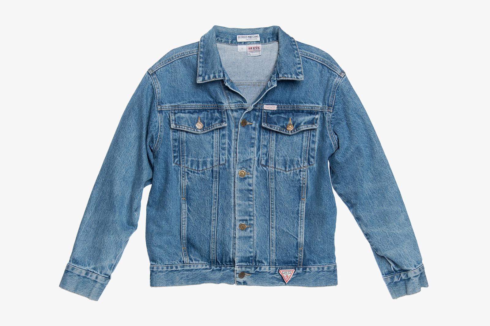 guess vintage jeans denim program 80s 90s triangle logo jackets vests sweaters launch