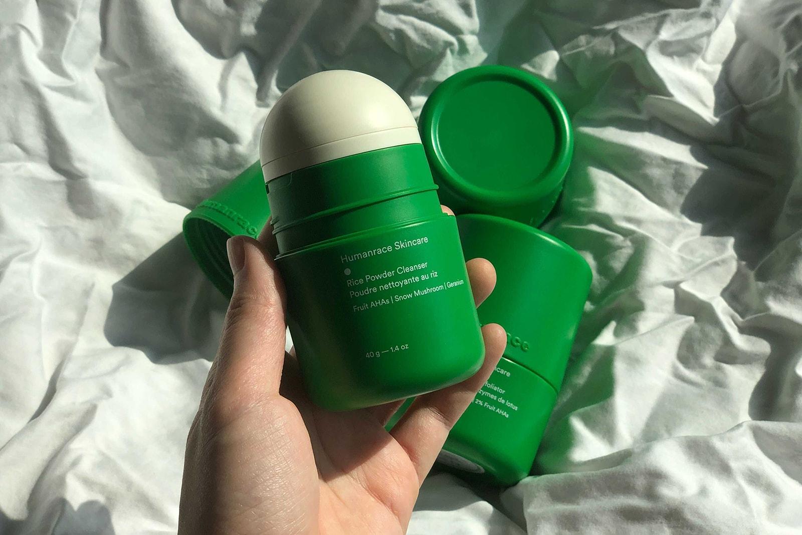 pharrell humanrace skincare review vegan sustainable refillable powder cleanser exfoliator moisturizer cream