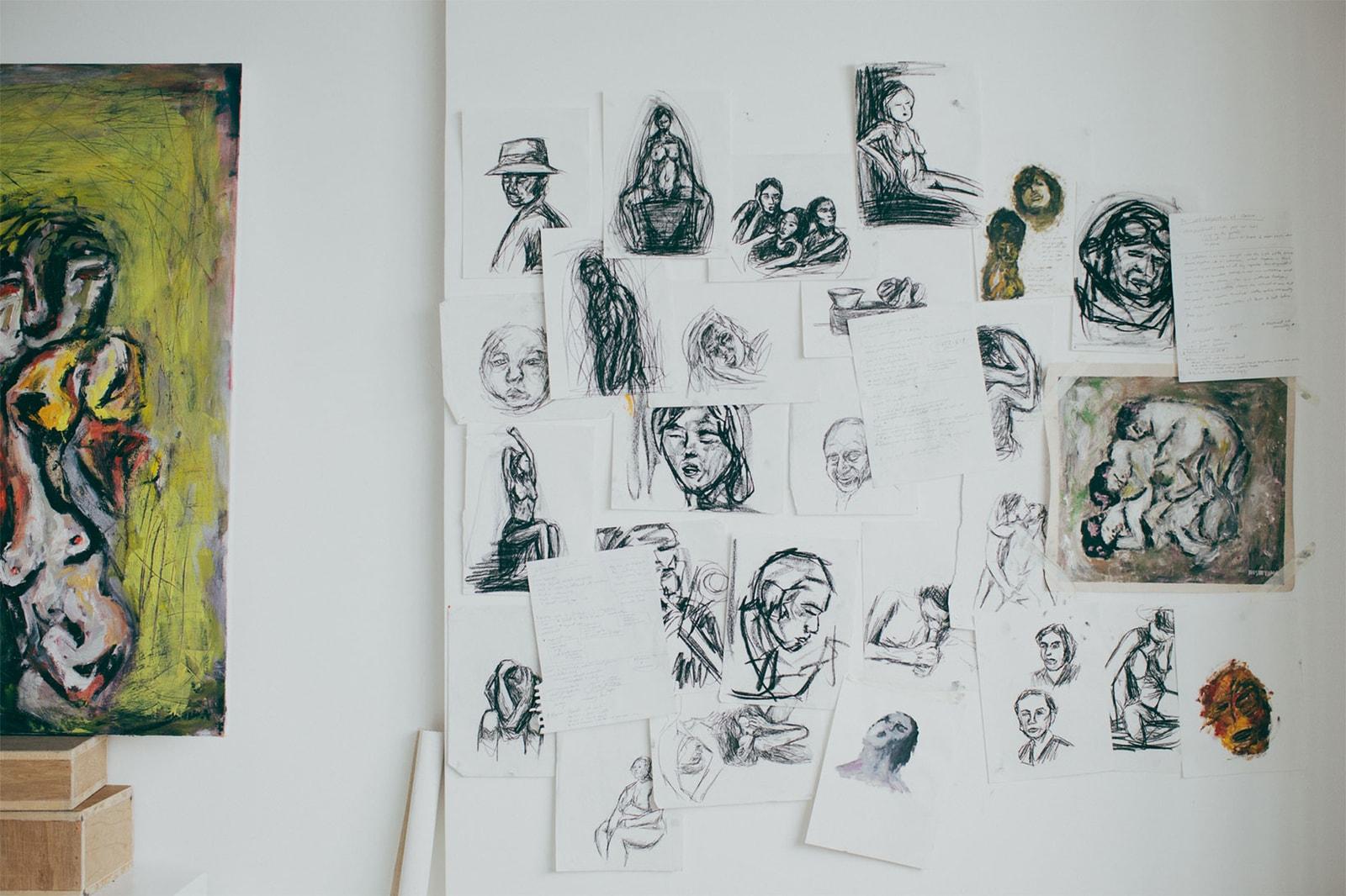 mizuki nishiyama artist hong kong japan italy interview oil paintings love and lust shunga mental health anxiety trauma
