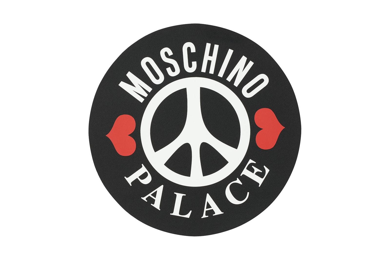 moschino palace skateboards collaboration helmet denim jeans jackets puffer drop release date