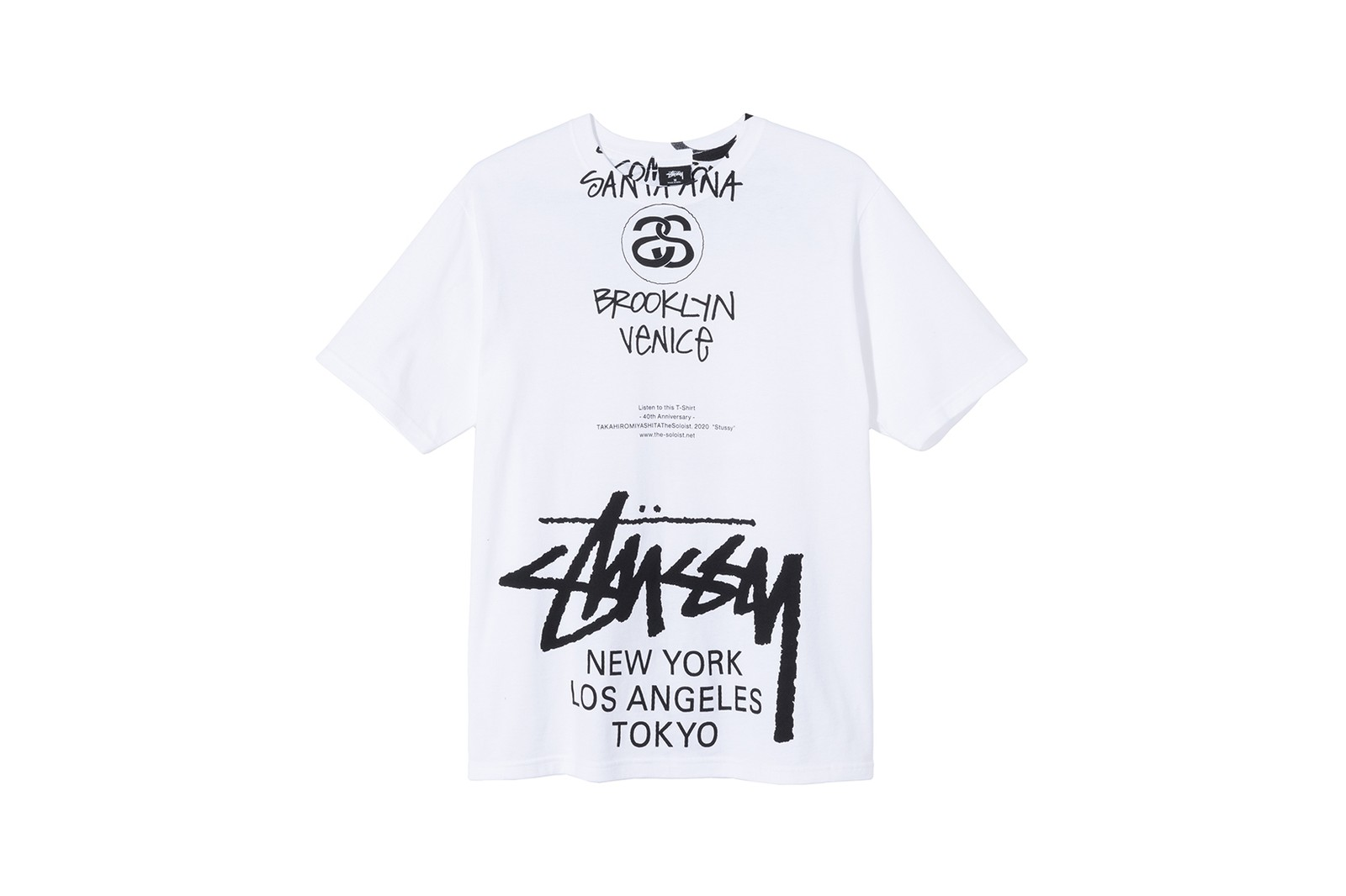 stussy 40 anniversary world tour t shirt tee collection virgil abloh marc jacobs