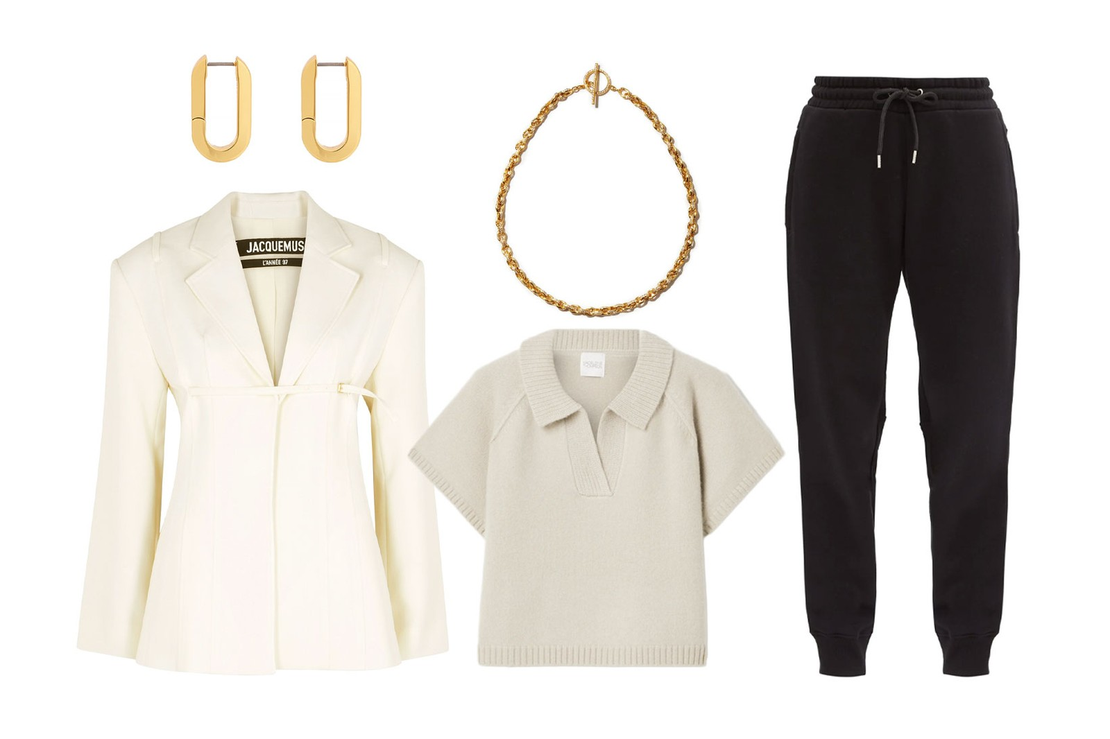 tracksuit styling editors guide outfits jacquemus jacket paco rabanne sweatpants