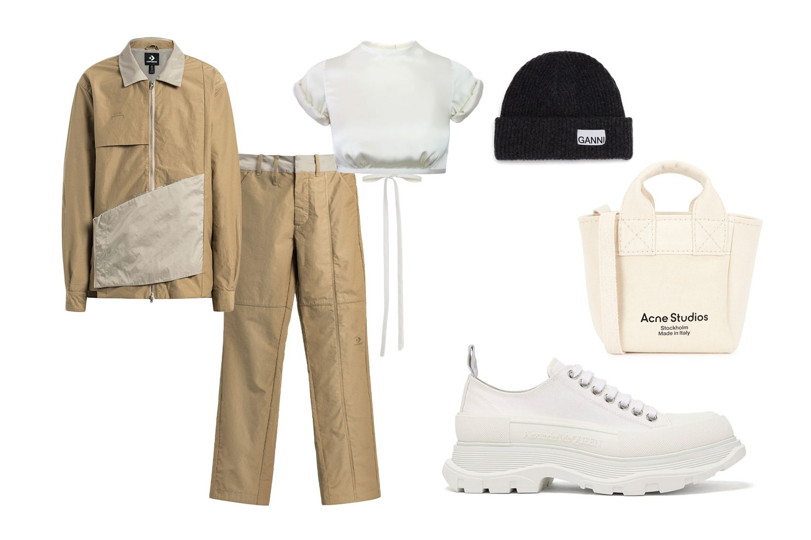 tracksuits styling guide editors outfit a cold wall acw converse orseund iris alexander mcqueen ganni acne studios