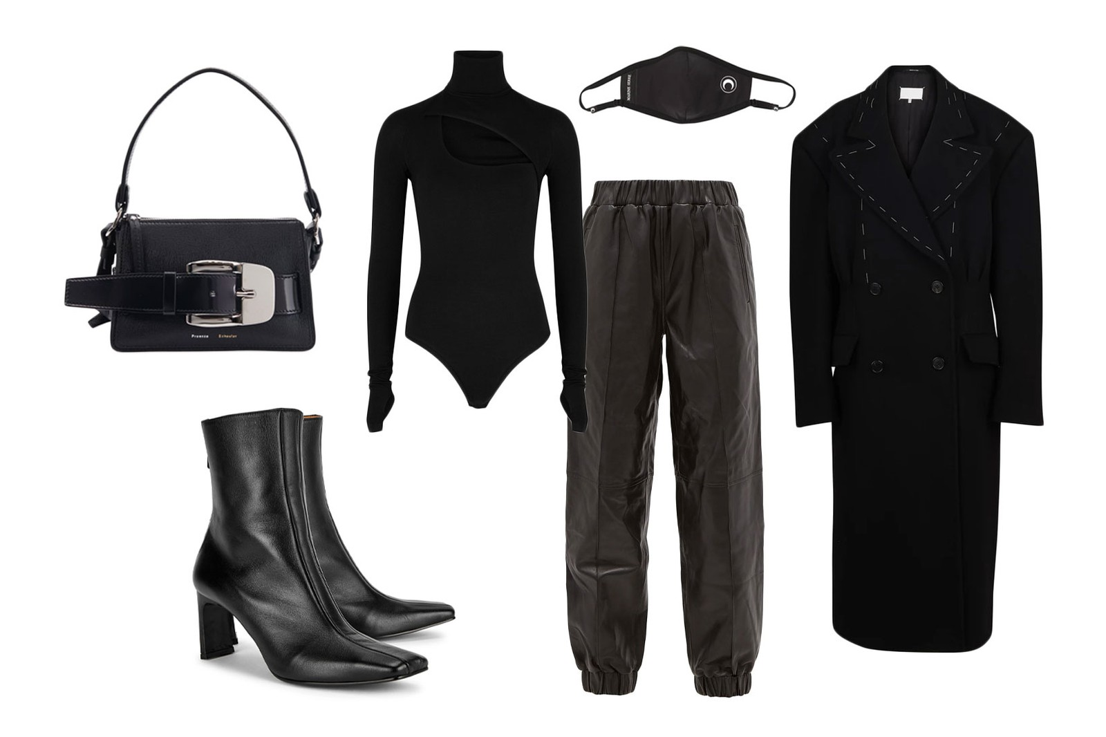 tracksuits styling guide editors outfit all black maison margiela ganni alix marine serre mask reike nen boots