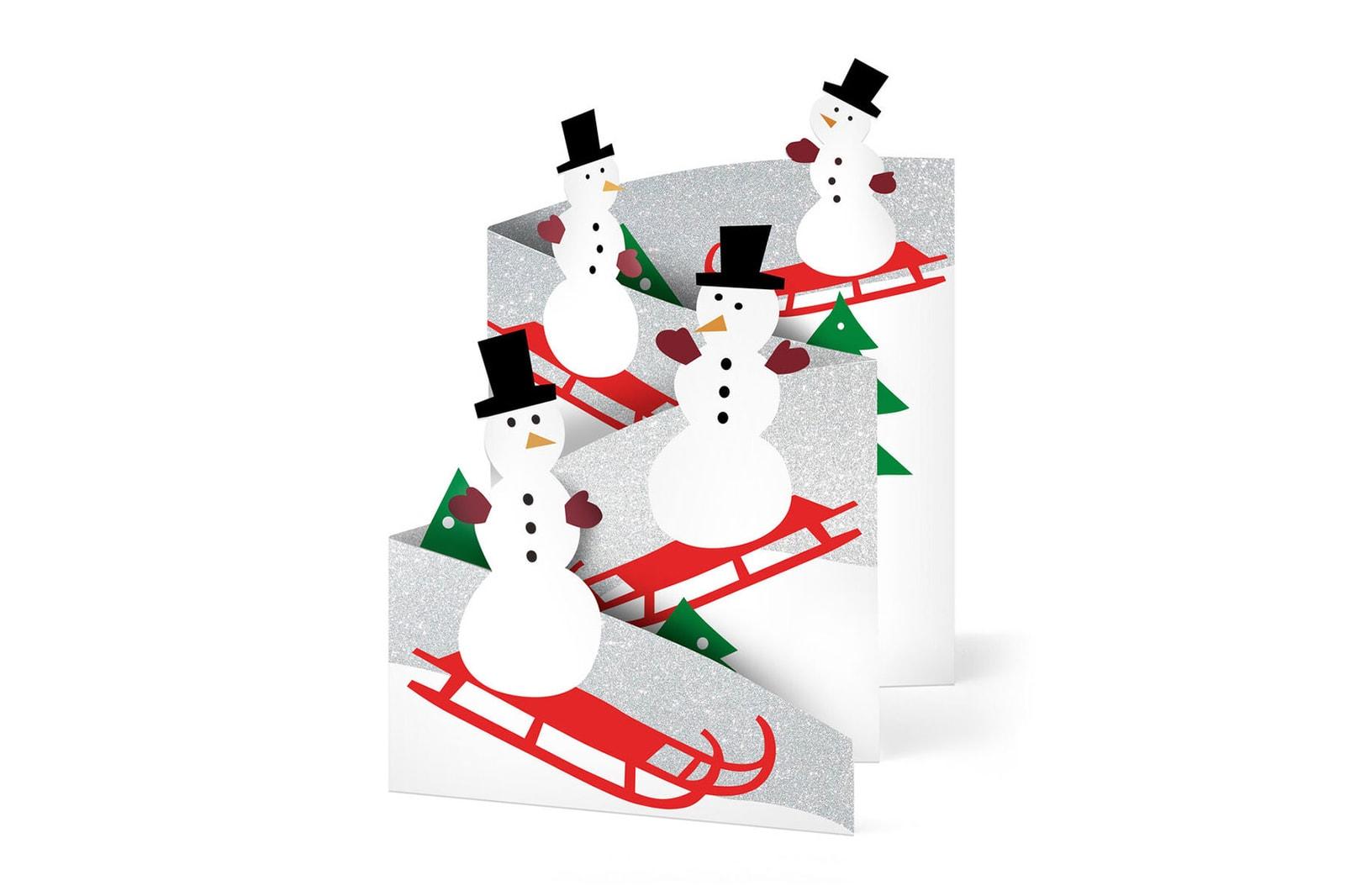 best holiday christmas cards gifts ideas kaws santa claus snowman lizzo cute design
