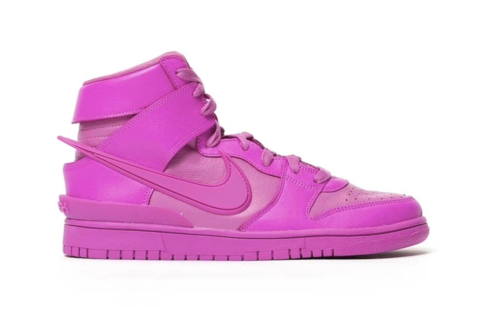 ambush nike dunk high lethal pink active cosmic fuchsia collaboration yoon ahn sneakers on-foot look