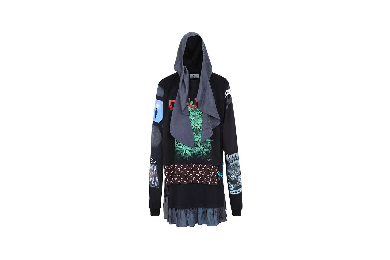 ASAP Rocky AWGE x Marine Serre Collaboration Collection Denim Jacket Crescent Moon
