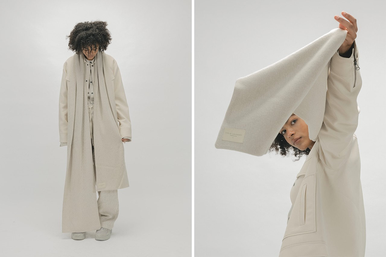 Cold Laundry Black Owned Fashion Brand Business CL Cream Scarf Model