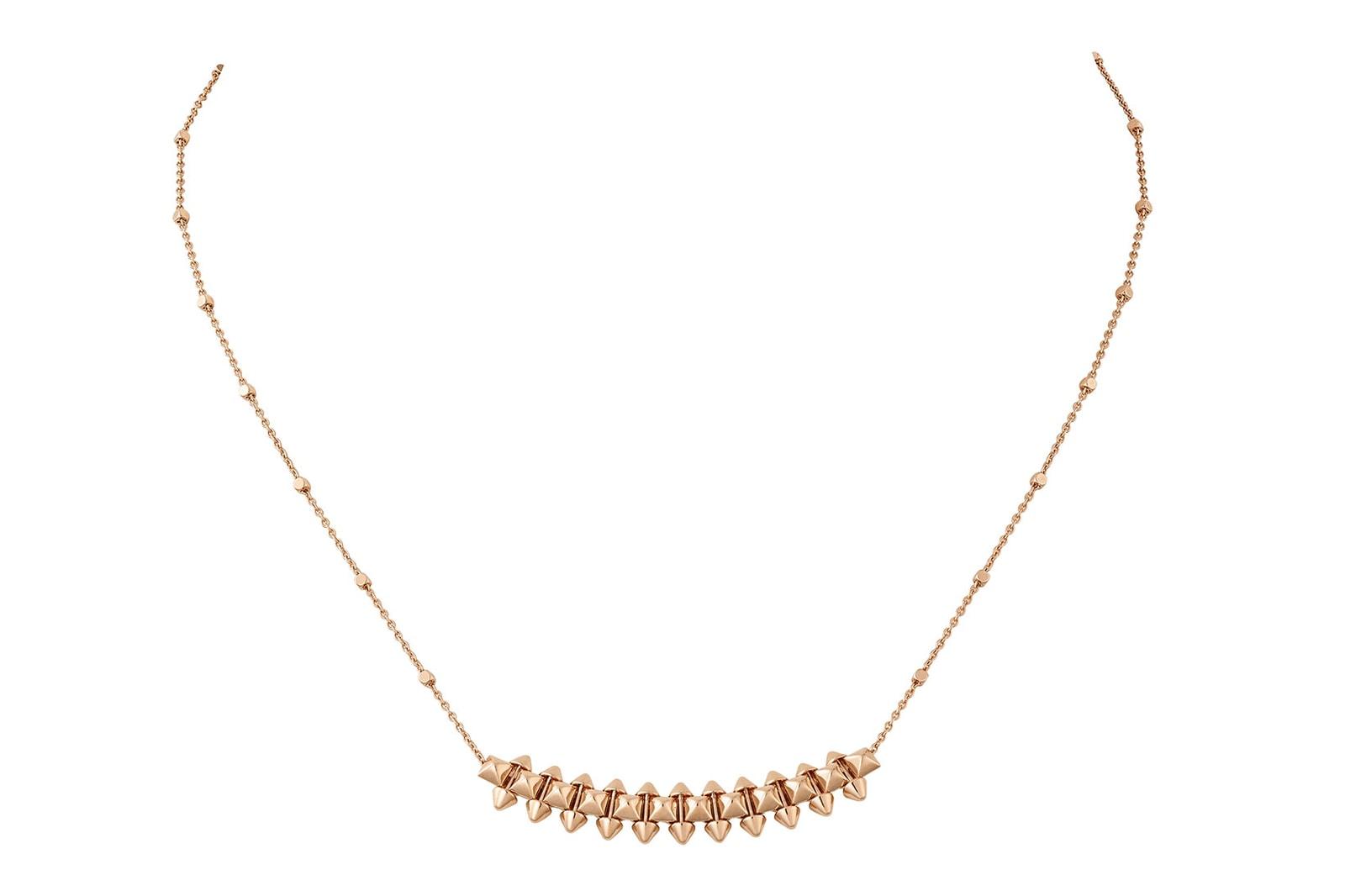 clash de cartier gold pink white gold diamonds jewelry launch kaya scodelario necklaces earrings bracelets
