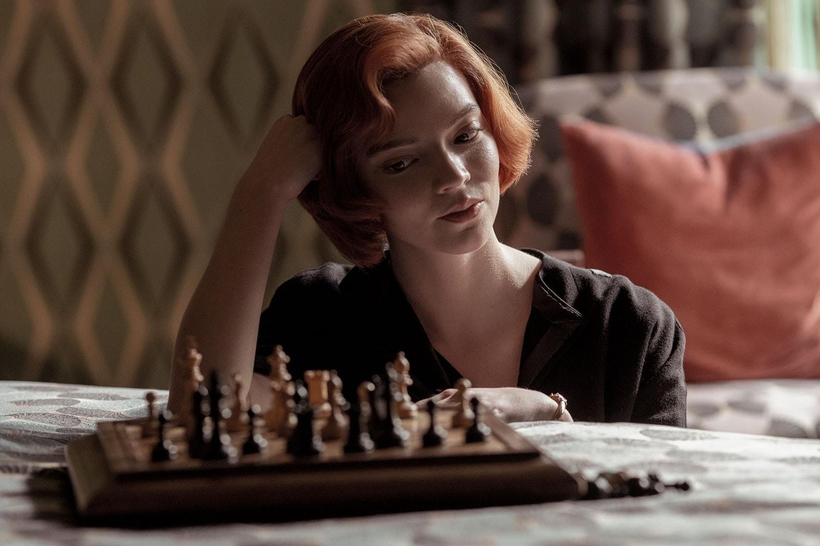 netflix queens gambit beth harmon chess anya taylor joy