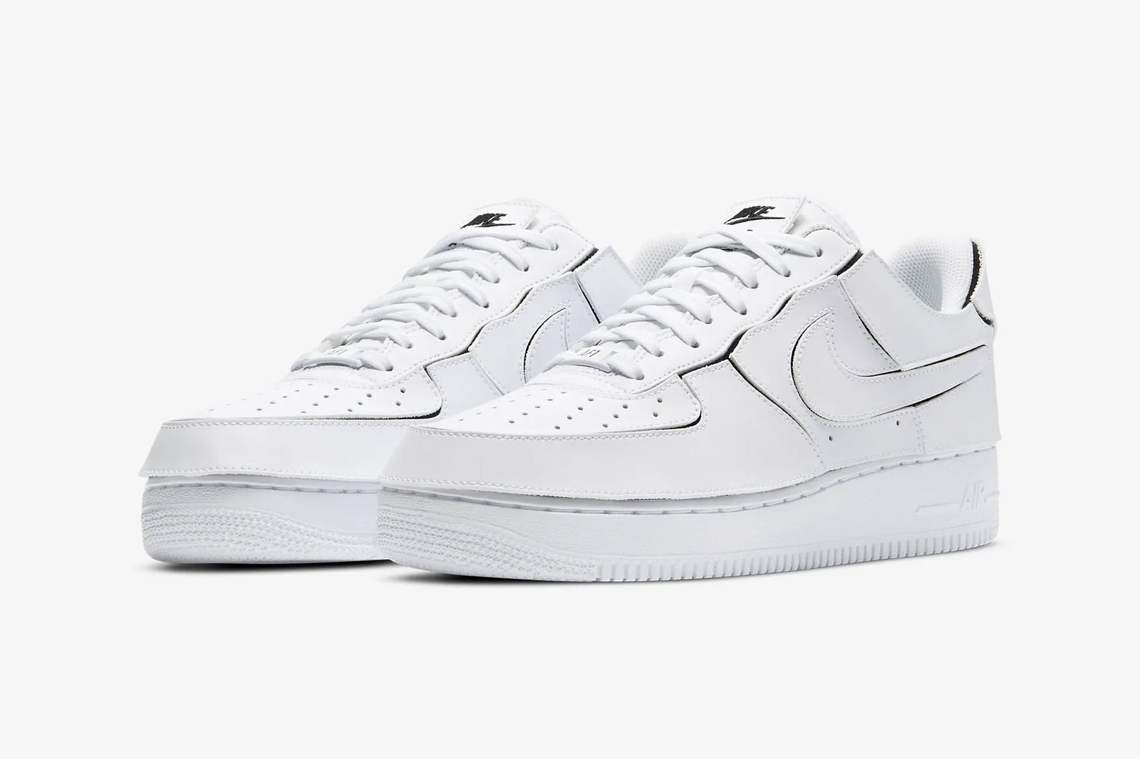 nike air force 1/1 customizable sneakers velcro overlays cosmic clay white black orange release info