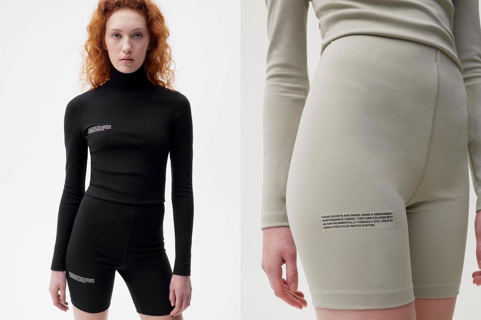 pangaia stretch roica v550 activewear athleisure bike shorts long sleeved tee leggings