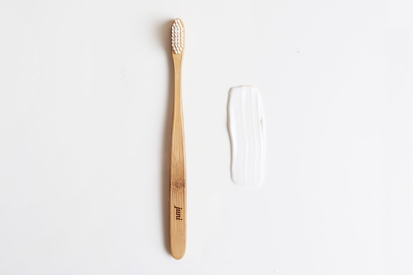 eco-friendly sustainable zero waste plastic free oral dental care hygiene bamboo toothbrush juni essentials