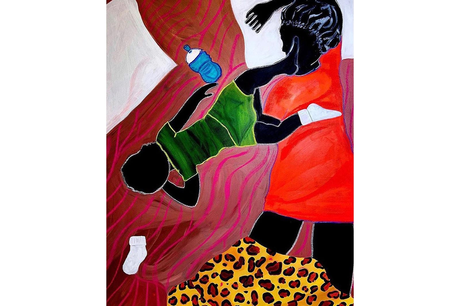 Tyra Mitchell Art Mom Project Self Portrait