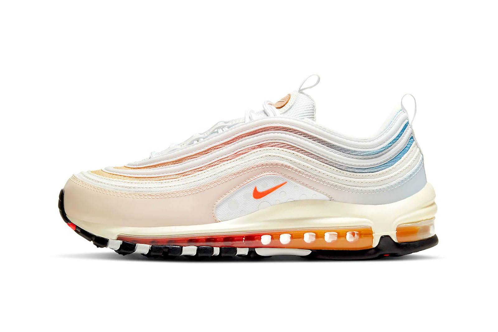 Nike Air Max 97 The Future Is In the Air White Pink Pastel Blue PUMA Hedra Fantasy Womens Sneakers Footwear Shoes