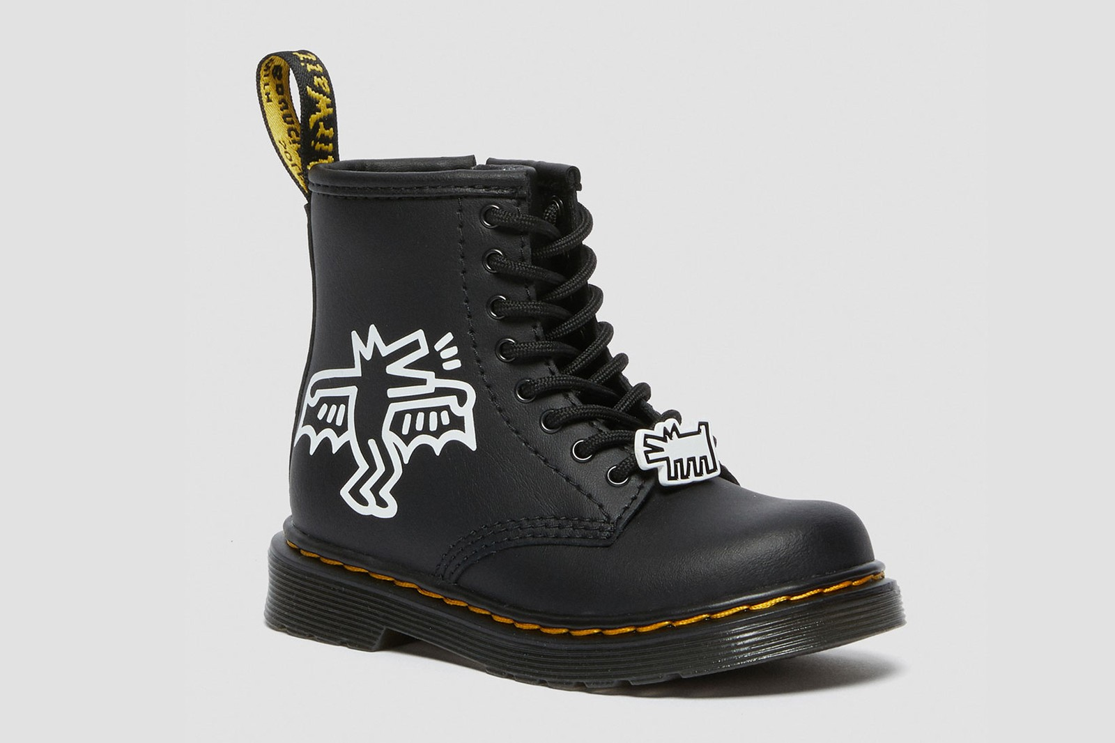 dr martens keith haring boots derby shoes collaboration artist illustrations 1460 1461
