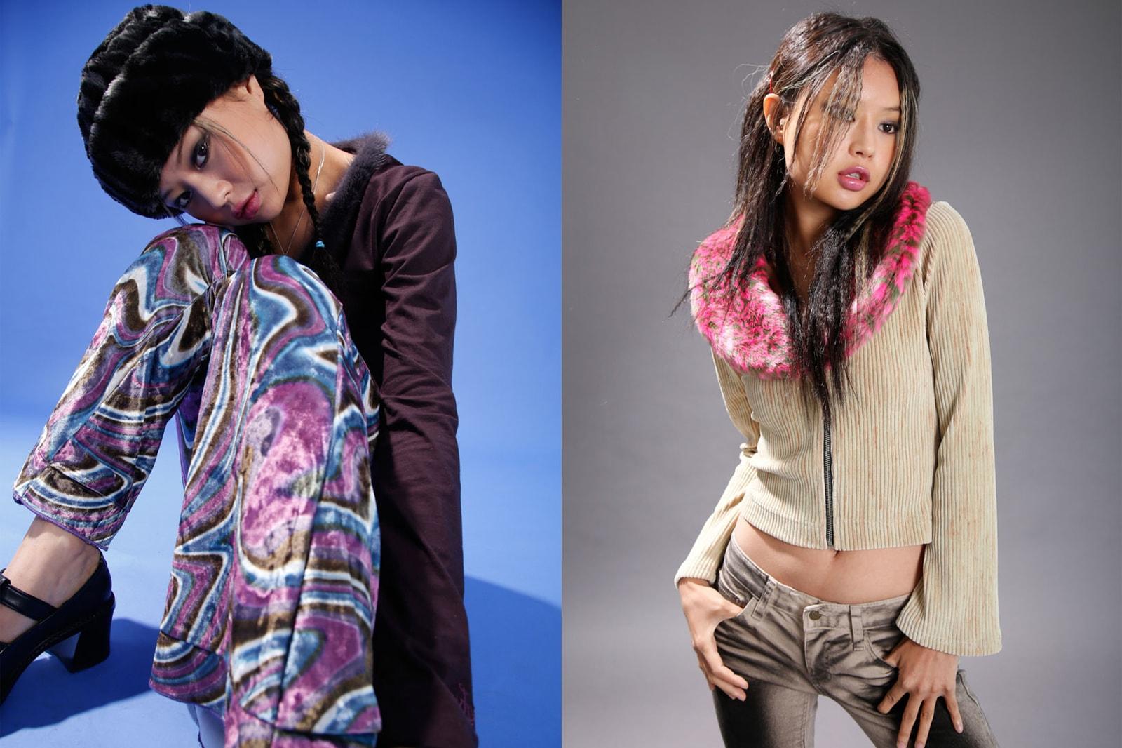 korean fashion emerging female fashion designers brands why not us seo jisoo fur cardigan pattern pants