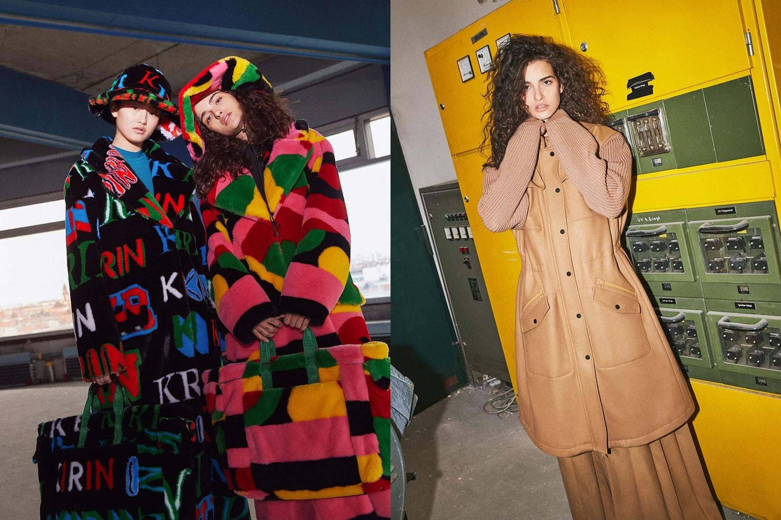 korean fashion emerging female fashion designers brands kirin peggy gou fall winter 2020 fw20 lookbook fur hat coat
