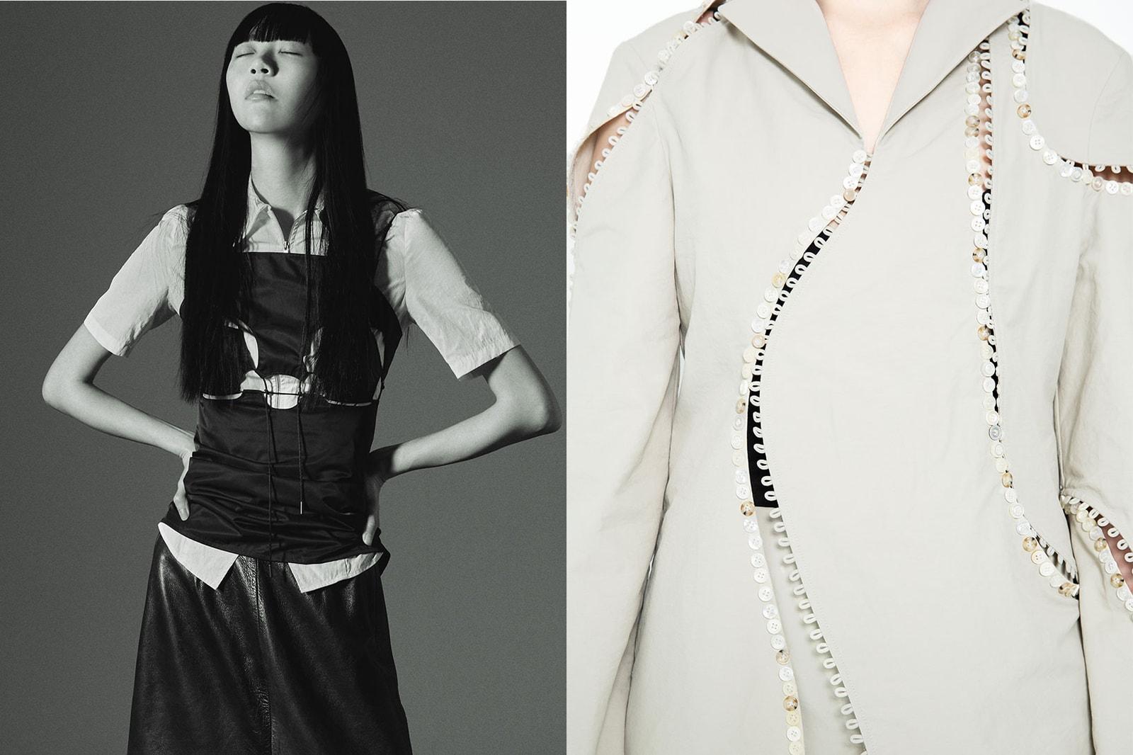 korean fashion emerging female fashion designers brands nibgnus details buttons black vest top