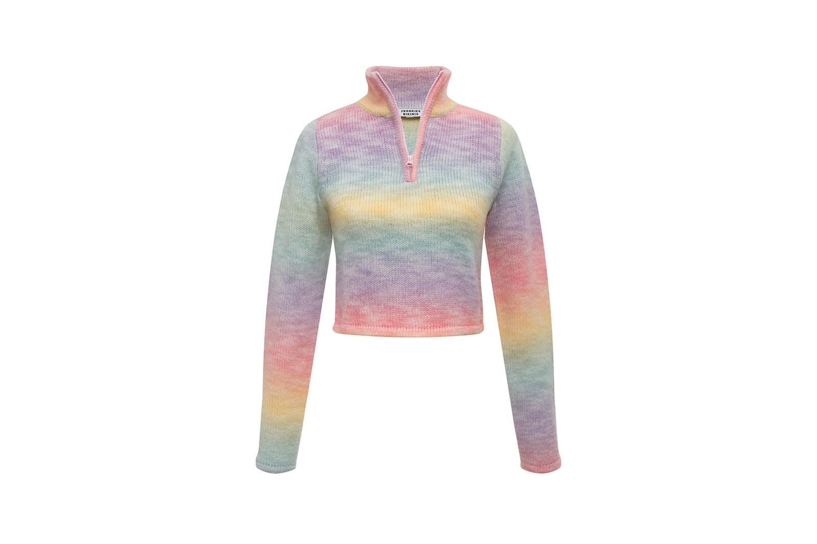 frankies bikinis knits loungewear collection hoodie halter dress pink blue white purple yellow