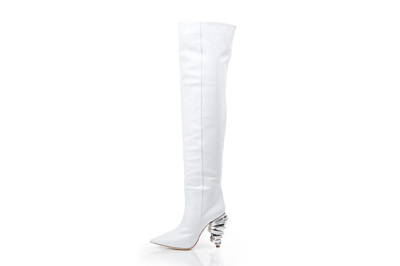 keeyahri zerina akers heels boots shoes collaboration white black