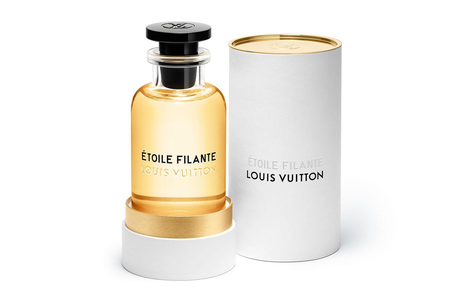 louis vuitton lv perfume fragrances scents etoile filante product packaging bottle gold yellow
