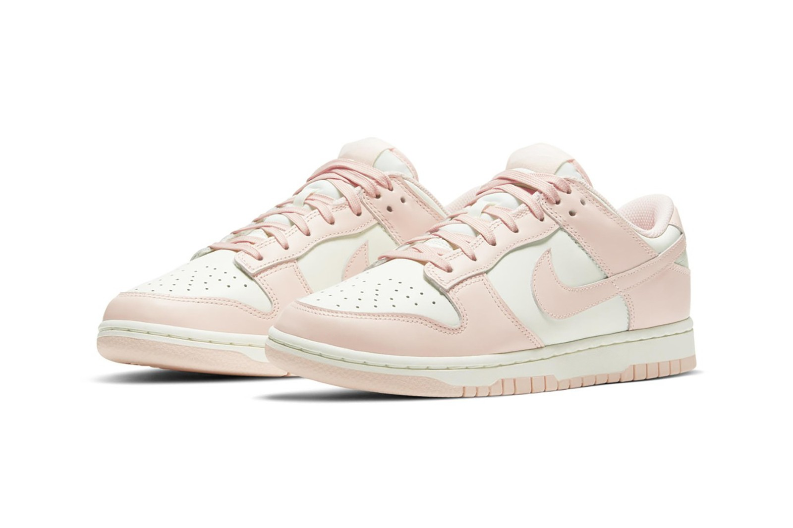 nike sportswear spring dunk low collection sneakers pastel pink black white checkered socks stocking sweater skirt jeans hoodie jacket chair
