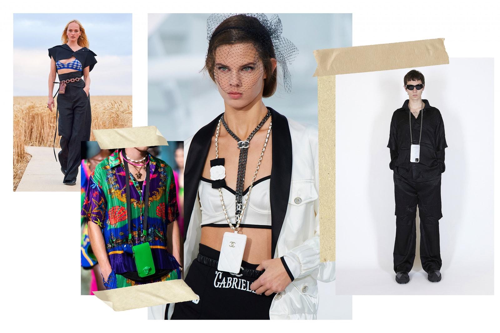 Spring/Summer 2021 Accessory Trends Bags Hats Water Bottle Phone Accessories Case Chain Woven Bag Chanel Bottega Veneta Fendi AMBUSH Versace The Row Givenchy