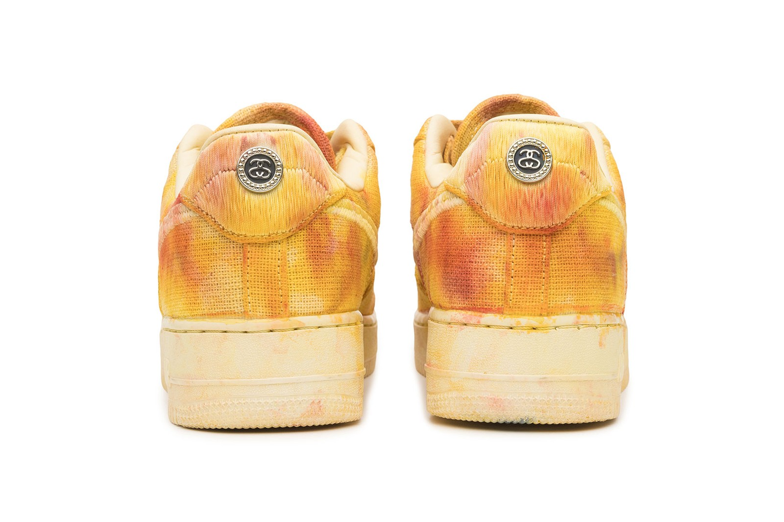 stussy nike air force 1 af1 hand-dyed sneakers puffer upcycled sustainable apparel collection