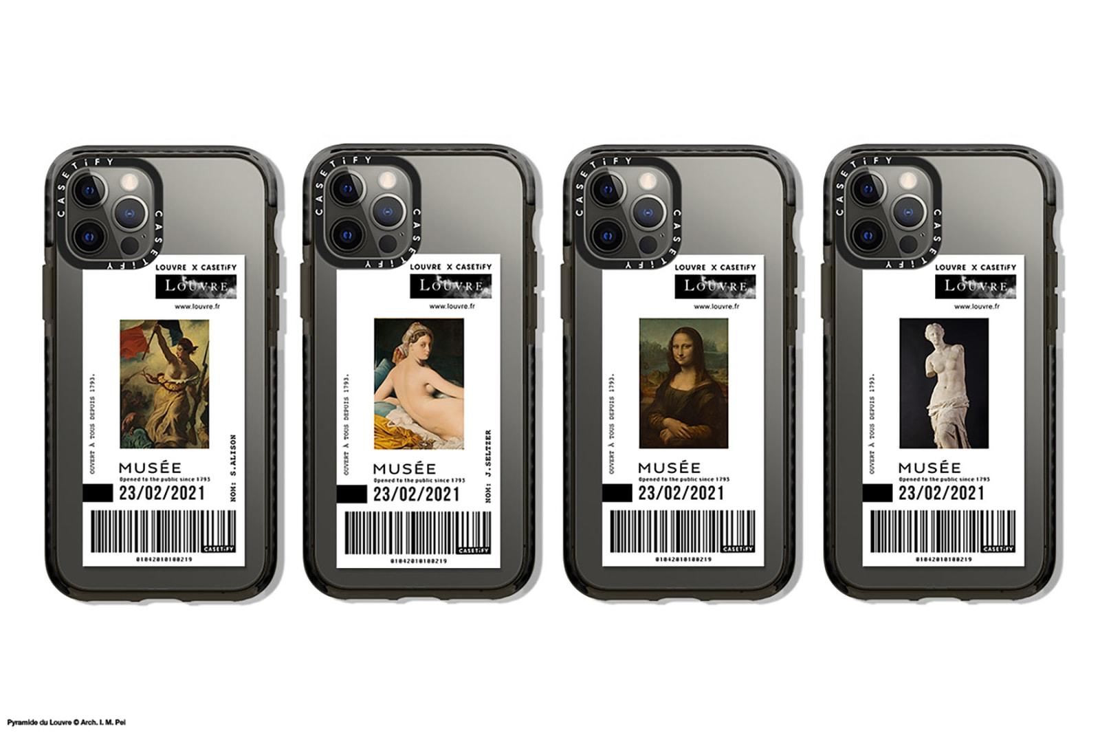 casetify musee du louvre collaboration cases apple iphone paris