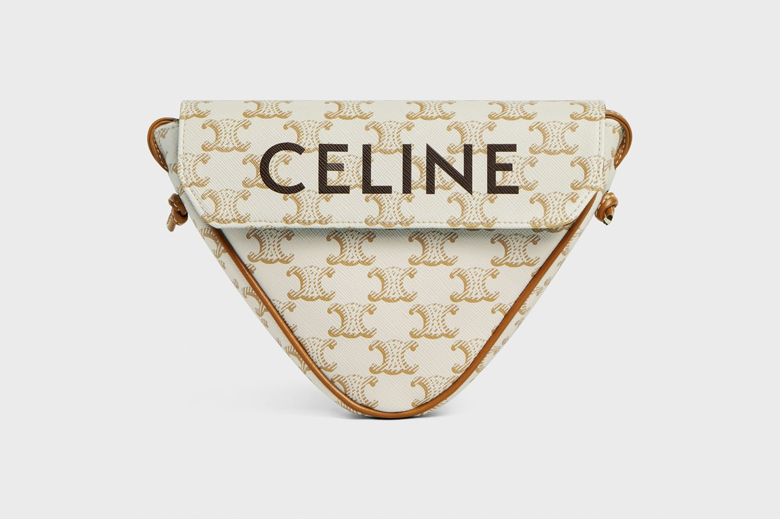 celine homme triangle bag spring summer collection leather accessories white black monogram