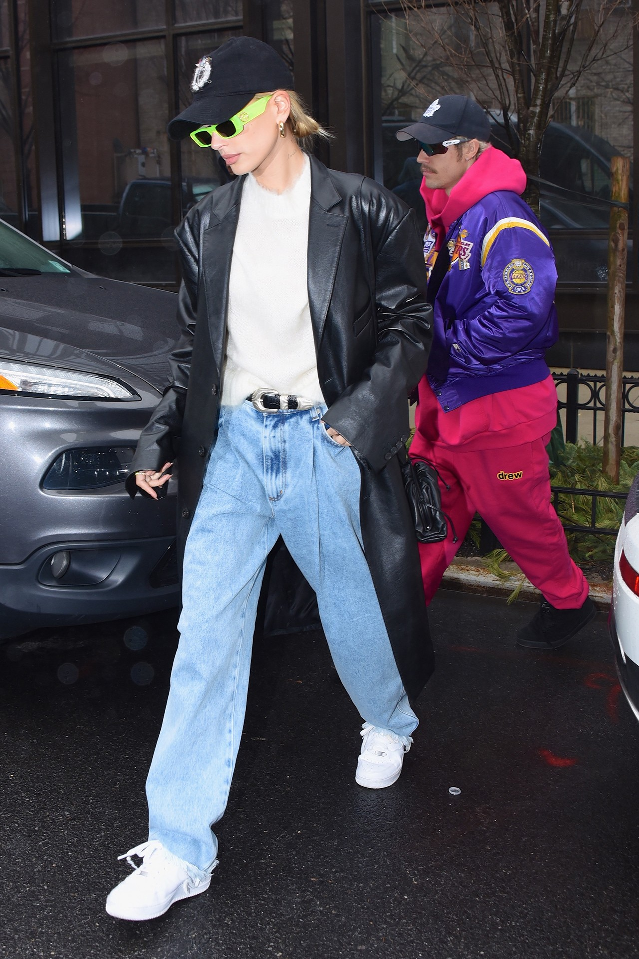Justin Bieber Hailey Baldwin Husband Wife Celebrity Couple Red Carpet Fashion Looks Street Style Outfits Changes Documentary Premiere